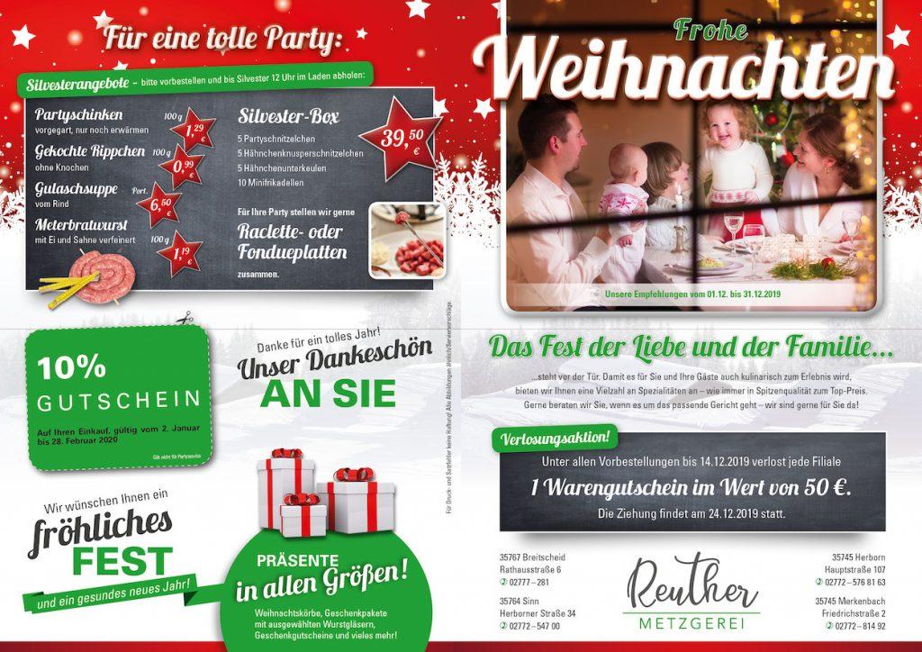 Metzgerei Reuther - Weihnachtsangebote 2019